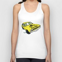 ford Tank Tops featuring Ford Capri by Ricardo Reis Illustration