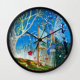 Fairy Artist Wall Clock