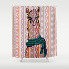 Llama Mix Shower Curtain