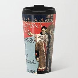 Czechoslav ethnographic exposition vintage ad Travel Mug