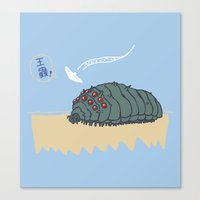 nausicaa Canvas Prints featuring ohmu! by nisimalotse