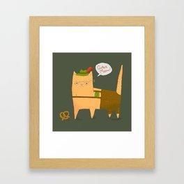 Oktoberfest Kitty Framed Art Print
