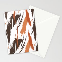 Abstract strokes Beige brown  Stationery Cards