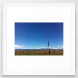driving into Longmont Framed Art Print