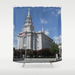 Philadelpha LDS Temple Shower Curtain