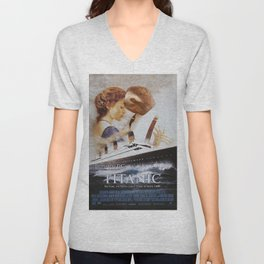 Sloth as Jack Dawson Unisex V-Neck
