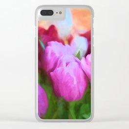 Tulip 58 Clear iPhone Case
