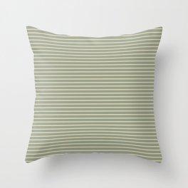 Seafoam Neutral Striped Palette Throw Pillow