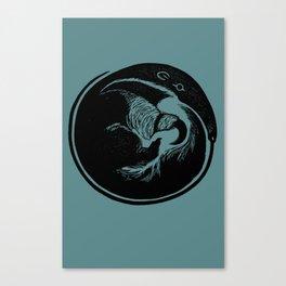Anteater Block Print Canvas Print
