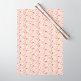 Pink Wildflowers Wrapping Paper