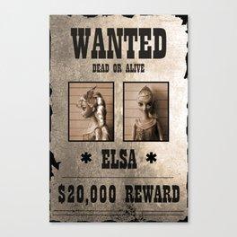 Elsa - Wanted Canvas Print
