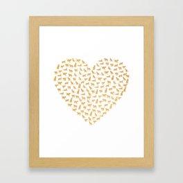 Cats Lover Heart Framed Art Print