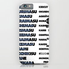 Graphic Exercise, : Japanese Indonesian English Slim Case iPhone 6s