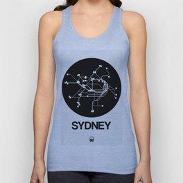 Sydney Black Subway Map Unisex Tank Top