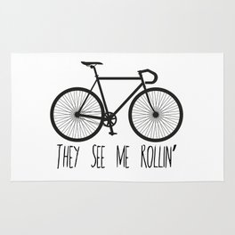 They See Me Rollin' Bicycle - Men's Fixie Fixed Gear Bike Cycling Rug