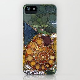Granite Agate Quartz Snail Fossil iPhone Case
