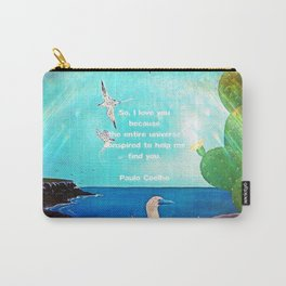 I LOVE YOU Inspirational Quote Carry-All Pouch