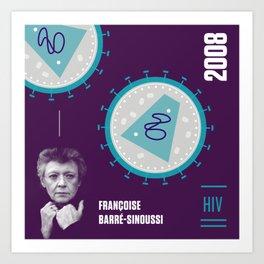 Beyond Curie: Francoise Barré-Sinoussi Art Print