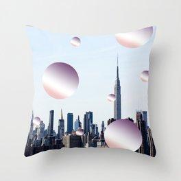 pastell skyline Throw Pillow