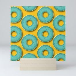 Donut Pattern Mini Art Print