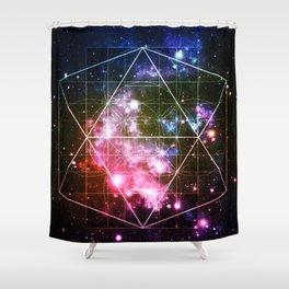 Rainbow Galaxy Sacred Geometry : Golden Rectangles Shower Curtain
