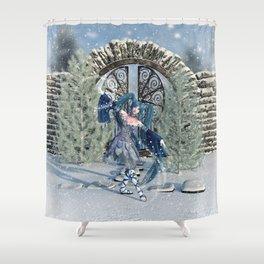 Winter Sprite Shower Curtain