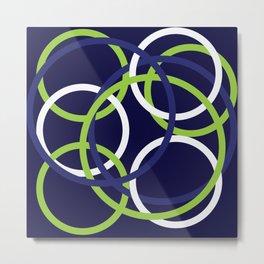 Blue, green, and white bangles Metal Print