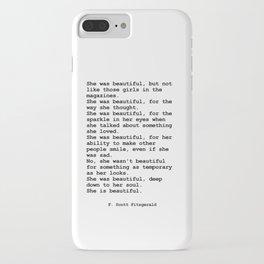 She was beautiful by F. Scott Fitzgerald #minimalism #poem iPhone Case