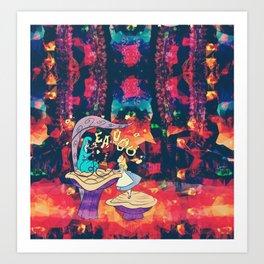 Alice in where-tf land Art Print