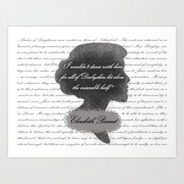 Elizabeth Bennet - Quote about Mr. Darcy Art Print