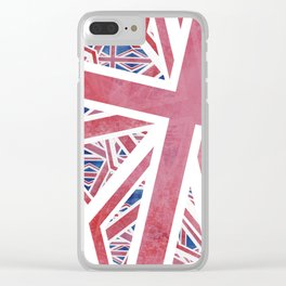 Union Jack Collage Clear iPhone Case