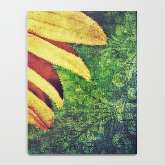 Sunflower Fleur De Lis Notebook