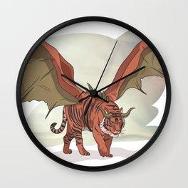 Manticore illustration Wall Clock