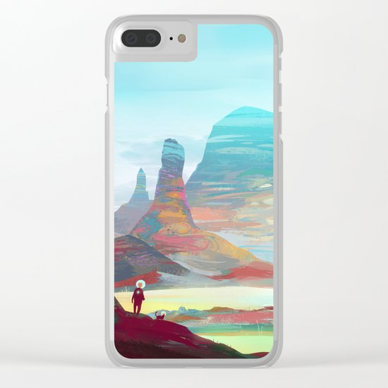 On another planet 2 Clear iPhone Case