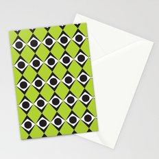 Lime circles & diamond pattern Stationery Cards