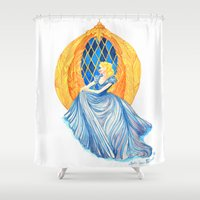 cinderella Shower Curtains featuring Cinderella by Lydia Joy Palmer