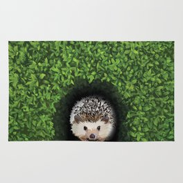 Little Hedgehog in the Hedge Rug