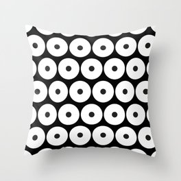 Navajo Black and White Pattern: Circle as a union Throw Pillow