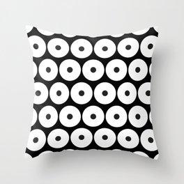 Navajo Black and White Pattern: Circle as a union Throw Pillow