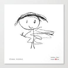 [happy mommy] - nadya 4 yr Canvas Print