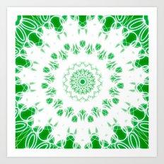 Green 2 Mandala Art Print