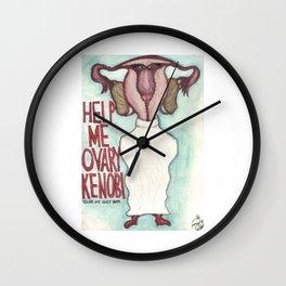 Help me Ovary Kenobi, you're my only hope! Wall Clock