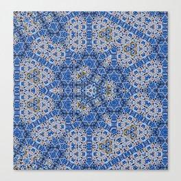#hexagon #pattern #blue #tile Canvas Print