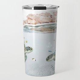 Coral & Trash Turtles • Save the Planet Travel Mug