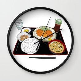 Japanese Tonkatsu Bento Wall Clock