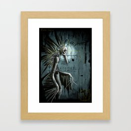 The wandering crow Framed Art Print