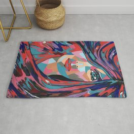 Psychedelic Jane - Contemporary Woman Art Rug