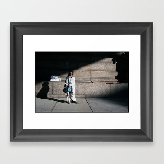 Windy NY Framed Art Print