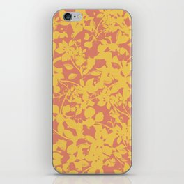 Yellow and Coral Botanical Pattern - Broken but Flourishing iPhone Skin