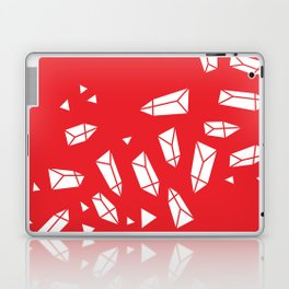 White Crystals on Red Laptop & iPad Skin